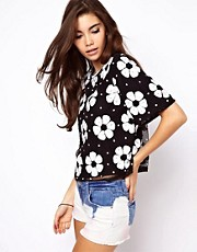 ASOS T-Shirt with Floral Sequins