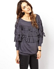 ASOS Sweatshirt with Cut Fringe