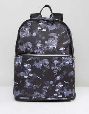 Рюкзак с принтом драконов и отделкой из искусственной кожи ASOS