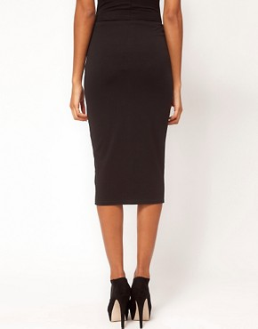Image 2 ofASOS Pencil Skirt with Zip Front