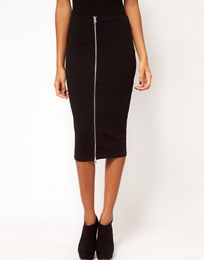 Image 4 ofASOS Pencil Skirt with Zip Front