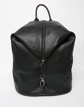 Pieces Slouchy Zip Detail Backpack