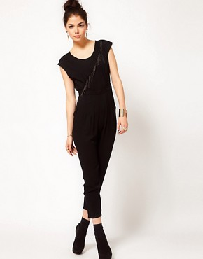 Image 1 ofPrey of London Metal Fringe Jumpsuit
