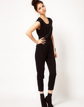 Image 4 ofPrey of London Metal Fringe Jumpsuit