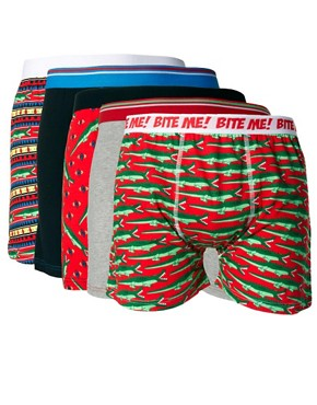 Image 1 ofRiver Island 5 Pack Crocodile Trunks