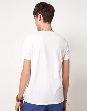Bild 2 von ASOS  T-Shirt mit rundem Symbolaufdruck