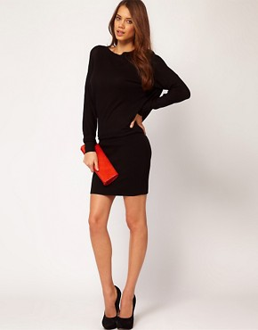 Image 4 ofASOS Knitted Dress with Tight Skirt and Cowl Back