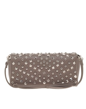 Image 1 ofWarehouse Studded Clutch Bag
