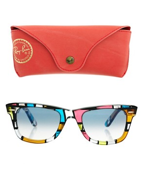 Image 2 ofRay-Ban Pattern Square Wayfarer Sunglasses