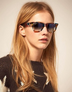 Image 3 ofRay-Ban Pattern Square Wayfarer Sunglasses