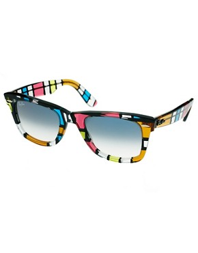Image 1 ofRay-Ban Pattern Square Wayfarer Sunglasses