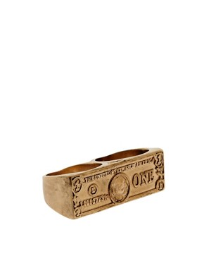 Image 1 ofASOS Double Dollar Bill Ring