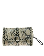 Karen Millen Fun Material Mix Clutch