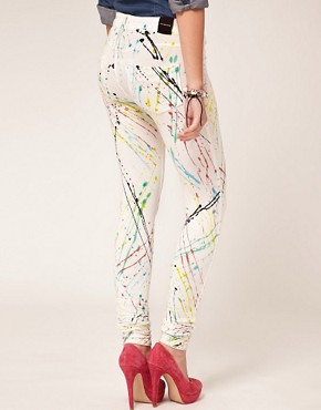 Image 2 ofDenimocracy Paint Splatter Jeggings