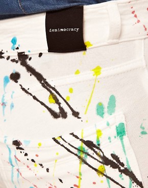 Image 3 ofDenimocracy Paint Splatter Jeggings