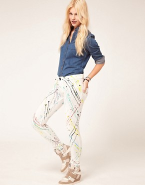 Image 4 ofDenimocracy Paint Splatter Jeggings