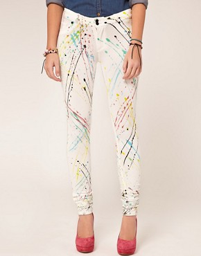 Image 1 ofDenimocracy Paint Splatter Jeggings