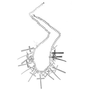 Image 2 ofASOS Linked Cross Choker