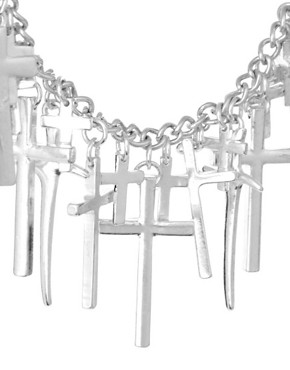 Image 4 ofASOS Linked Cross Choker