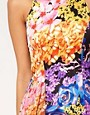 Image 3 ofLipsy Printed Dress With Peplum Detail