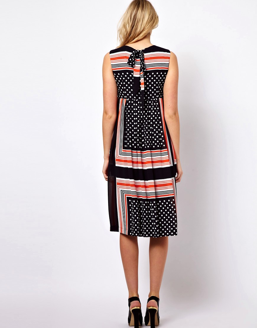 Image 2 of ASOS Maternity Midi Dress In Scarf & Spot Print