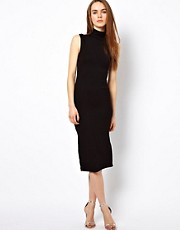 LnA Sleeveless Turtleneck Midi Dress