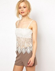 Lydia Bright Cami Top with Lace Detail