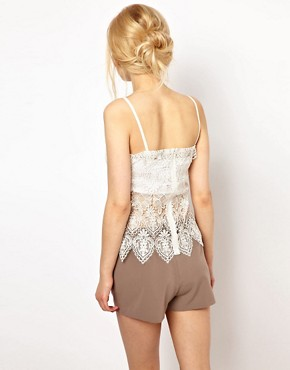 Image 2 of Lydia Bright Cami Top with Lace Detail