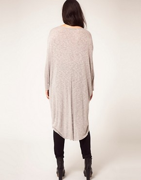 Image 2 ofASOS CURVE Exclusive Slub Jersey Dip Back Top