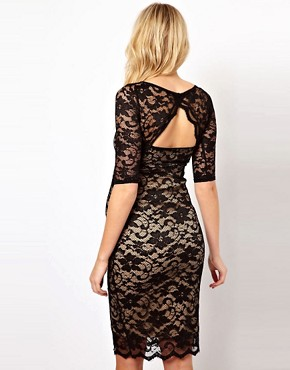 Image 2 ofASOS Maternity Lace Dress With Cut-Out Back