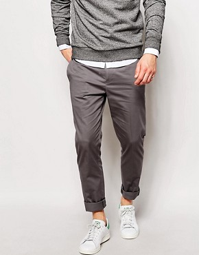 ASOS Skinny Fit Smart Trousers In Cotton Sateen