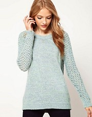 ASOS Jumper With Mesh Back And Sleeves