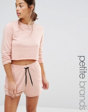 Missguided Petite Exclusive Crop Sweat Co-Ord