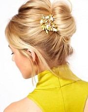 ASOS Jewel Leaf Hair Brooch