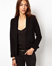 Whistles Lena Textured Jersey Jacket