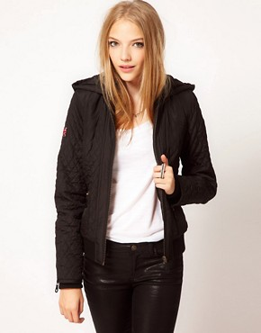 Image 1 ofPepe Quilted Hooded Jacket