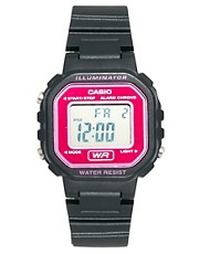 Casio Plastic Mini Watch With Pink Face