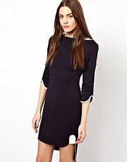 French Connection Nix Nights Slash Neck Dress