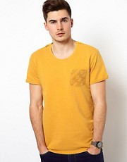 Solid T-Shirt With Aztec Pocket