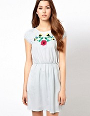 Rare Embroidered Cap Sleeve Dress