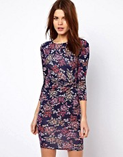 Warehouse Floral Print Mini Dress