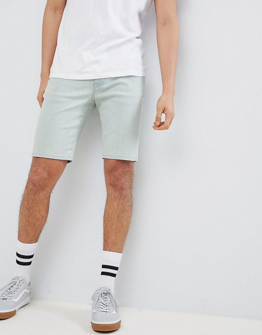 ASOS DESIGN – Enge Jeansshorts in gebleichtem, verwaschenem Blau | Bekleidung > Shorts & Bermudas > Jeans Shorts | Blau | Baumwolle - Denim - Jeans - Wolle | ASOS DESIGN