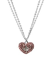 Lipsy Pave Heart Necklace
