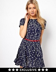 Oasis Dove Print Skater Dress
