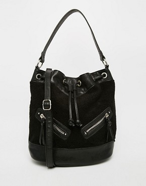 New Look Shearling Duffle Bag