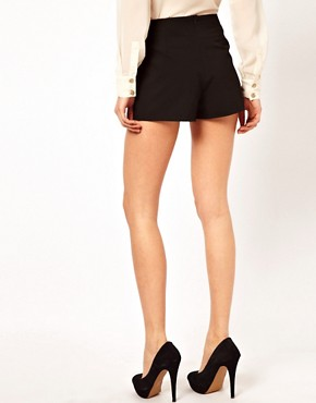 Image 2 ofASOS Tailored Shorts with Gold Belt
