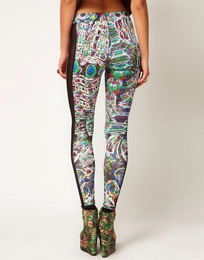 Image 2 ofASOS Revive Leggings In Digital Robot Print