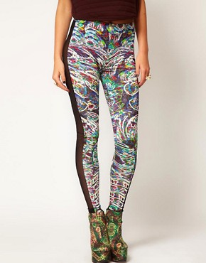 Image 4 ofASOS Revive Leggings In Digital Robot Print