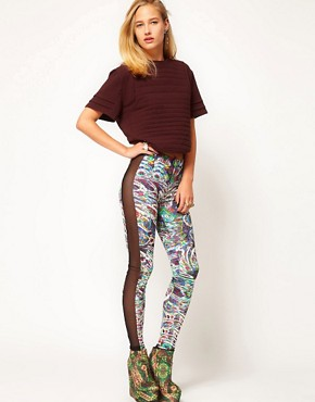 Image 1 ofASOS Revive Leggings In Digital Robot Print