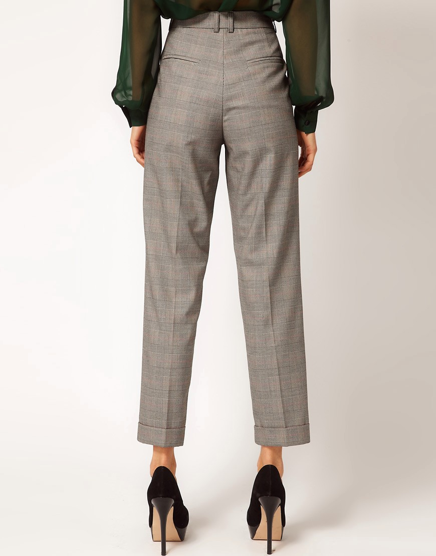 Image 2 ofASOS Peg Trousers In Check